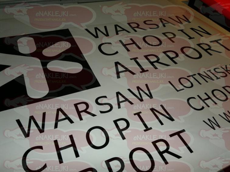 warsaw chopon airport druk naklejek